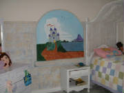 princess castle bedroom mural